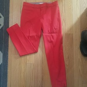 Banana republic red cropped pants
